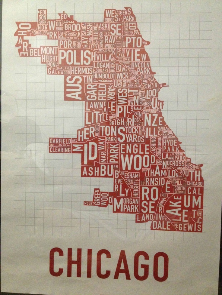 Chicago Neighborhoods Poster 24x36 22 httpwwworkposters 58