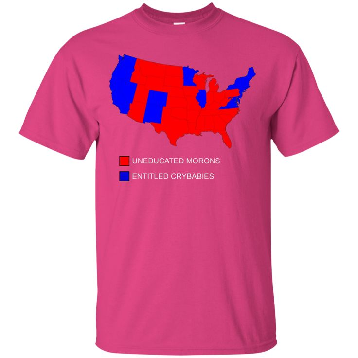2016 US Presidential Election Map Results Morons & Crybabies Custom Ultra Cotton T-Shirt