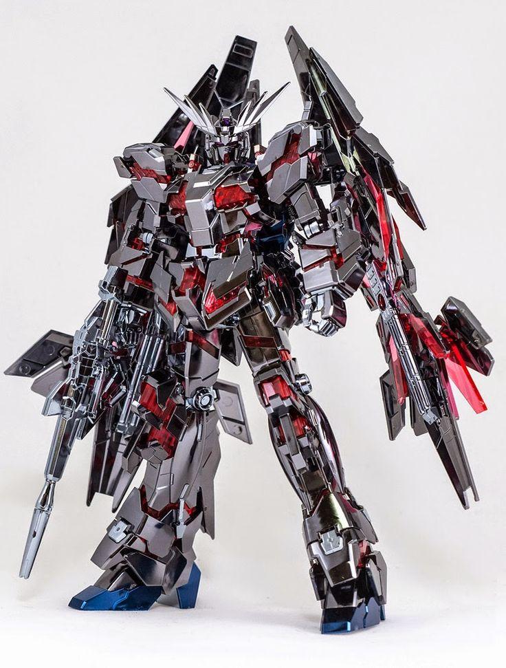 HG 1/144 Unicorn Gundam 03 Phenex type RC [Destory Mode] Ver. GFT Silver [Custom Plated] Modeled by 우그우그