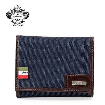 OROBIANCO 長財布 ◆オロビアンコ STRIPPO-L 01 ベルクロ 三つ折り 財布 JEANS