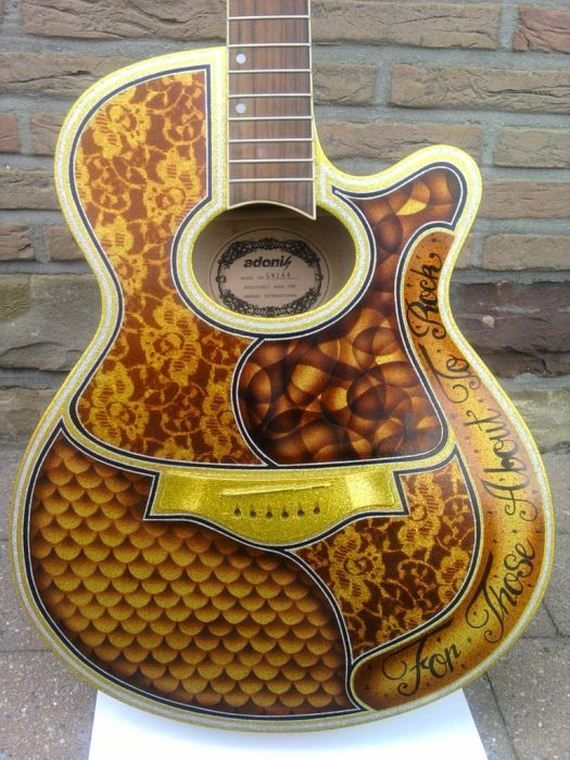 96 best custom painted guitars images on pinterest custom guitars painted guitars and guitar. Black Bedroom Furniture Sets. Home Design Ideas