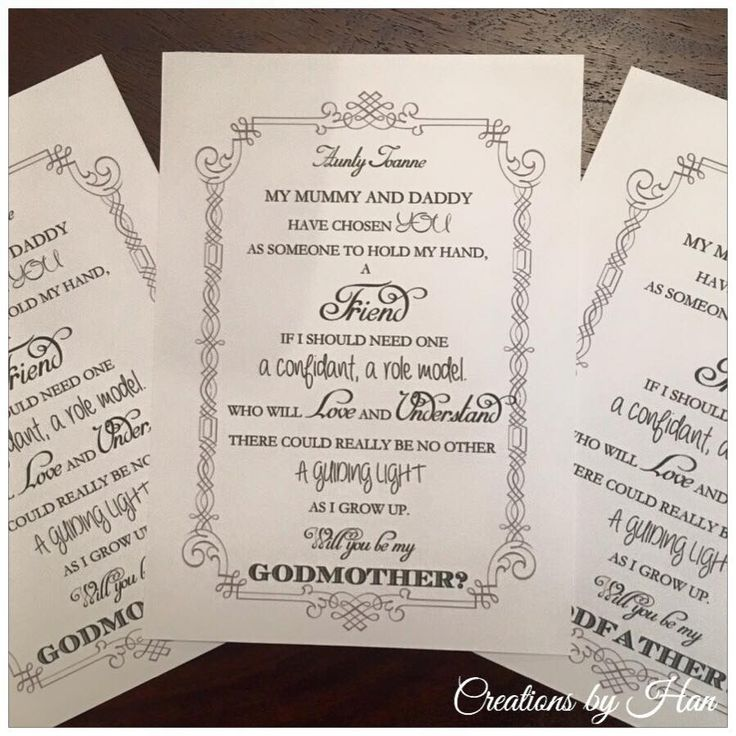 how to ask a godparent poem
