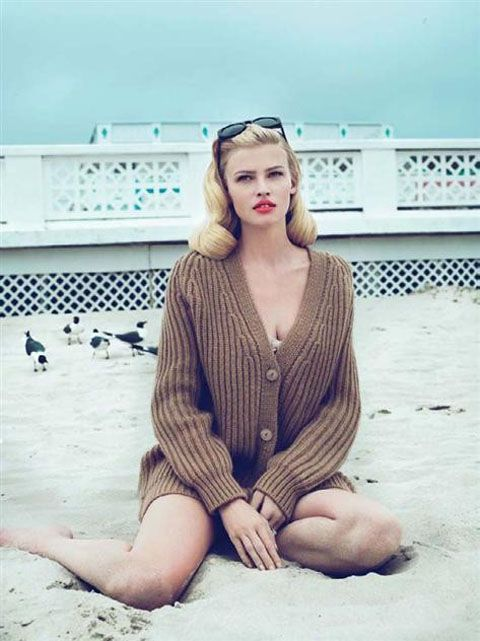 Lara Stone by Mert & Marcus for Vogue US September 2010, styled by Grace Coddington