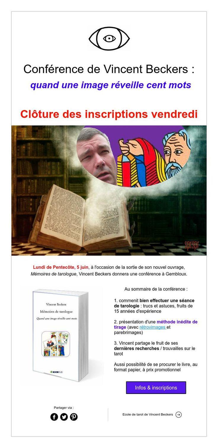 Conférence de Vincent Beckers : quand une image réveille cent mots    Clôture des inscriptions vendredi