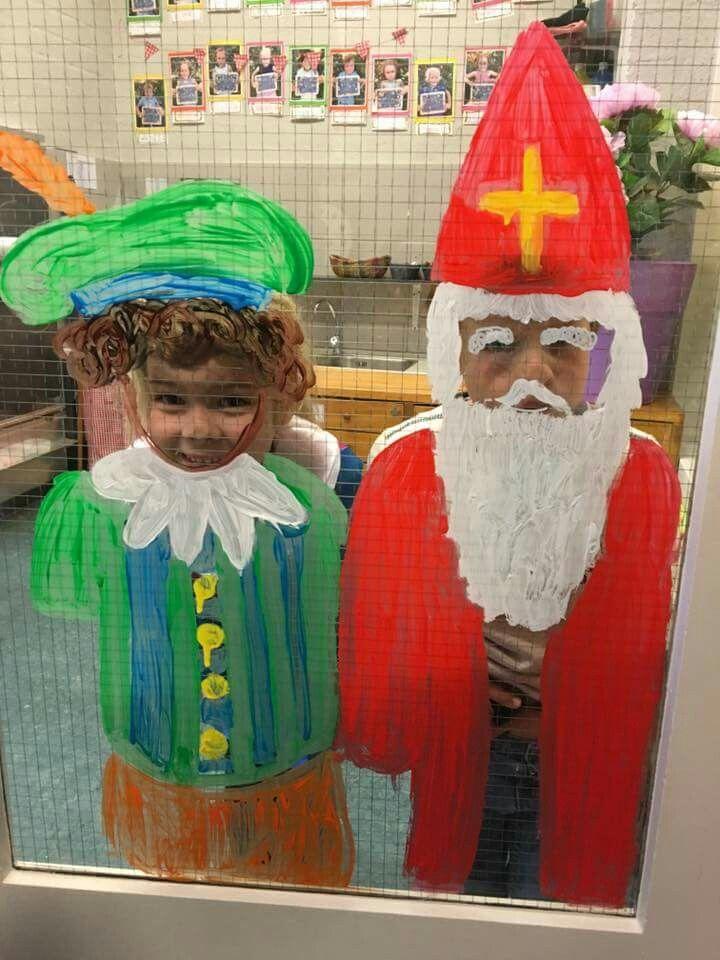 *Activiteit: Sint en Piet foto frame op glas