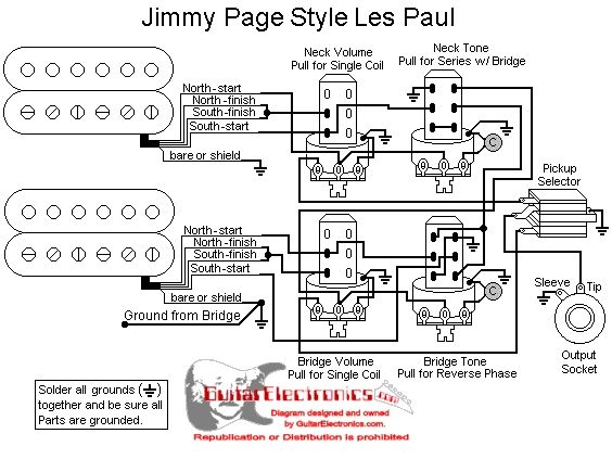 wiring diagram for acoustic guitar