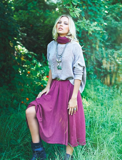 Dress up a chunky knitwear piece with layers of silver necklaces and a bold enhancer to finish the look.