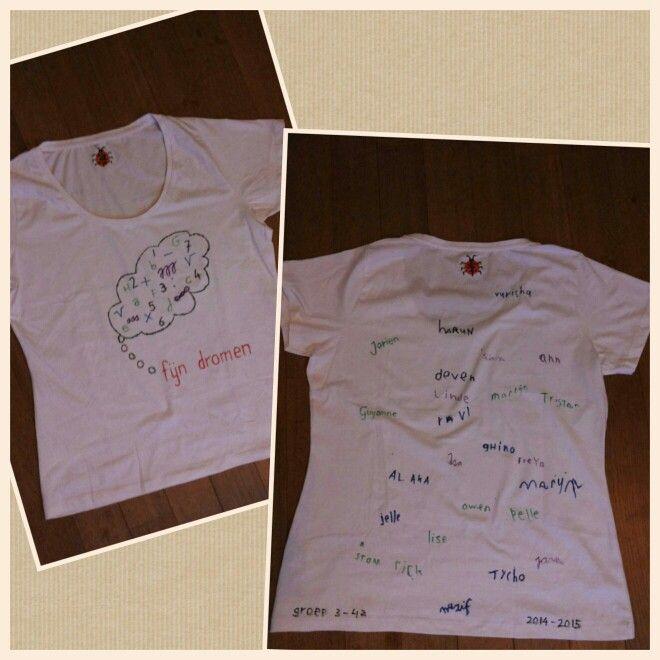 Afscheidscadeau voor stagiaire: een groot t-shirt als nachthemd.