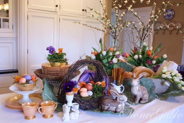 Easter Buffett from StoneGable blog  http://stonegable.blogspot.com/2012/03/easter-buffet.html?showComment=1332422867177#c2615657507562795663