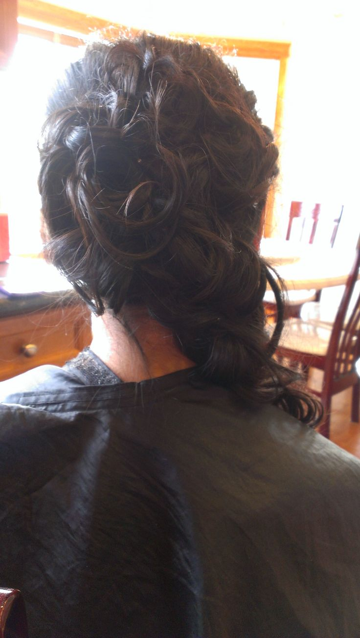 Curly Side Updo