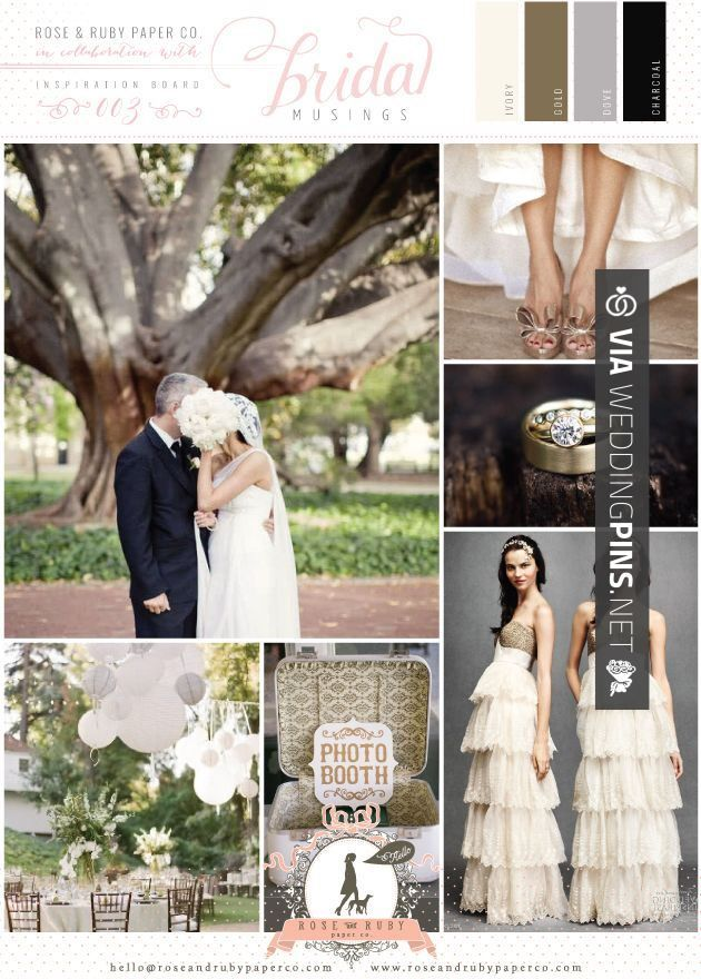 Fantastic Wedding Motif 2017 A Sophisticated Colour Palette Of Gold Dove Grey