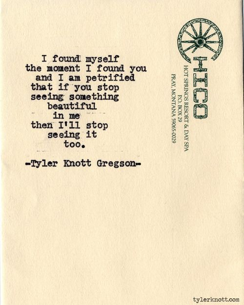 I love his poetry.
