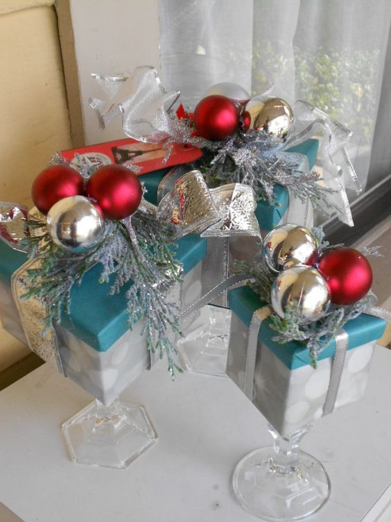 Artificial Christmas Centerpiece