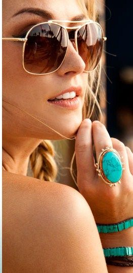 : Rayban, Summer Looks, Style, Turquoi Jewelry, Turquoi Rings, Summer Accessories, Turquoise Jewelry, Turquoise Rings, Ray Ban