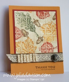 Julie's Stamping Spot -- Stampin' Up! Project Ideas Posted Daily: Gently Falling Collage Faux Tile Card