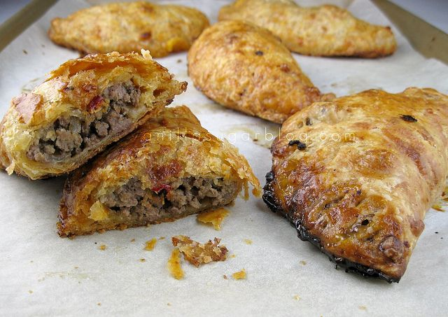 Beef and Cheddar Hand Pies, from Vanilla Sugar Blog
