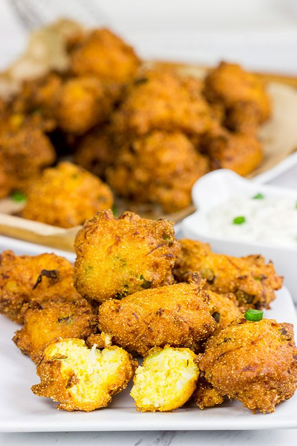 Often served with fried fish, Hushpuppies are a classic southern side dish!