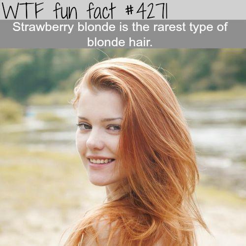 Rarest type blonde hair -  WTF fun facts