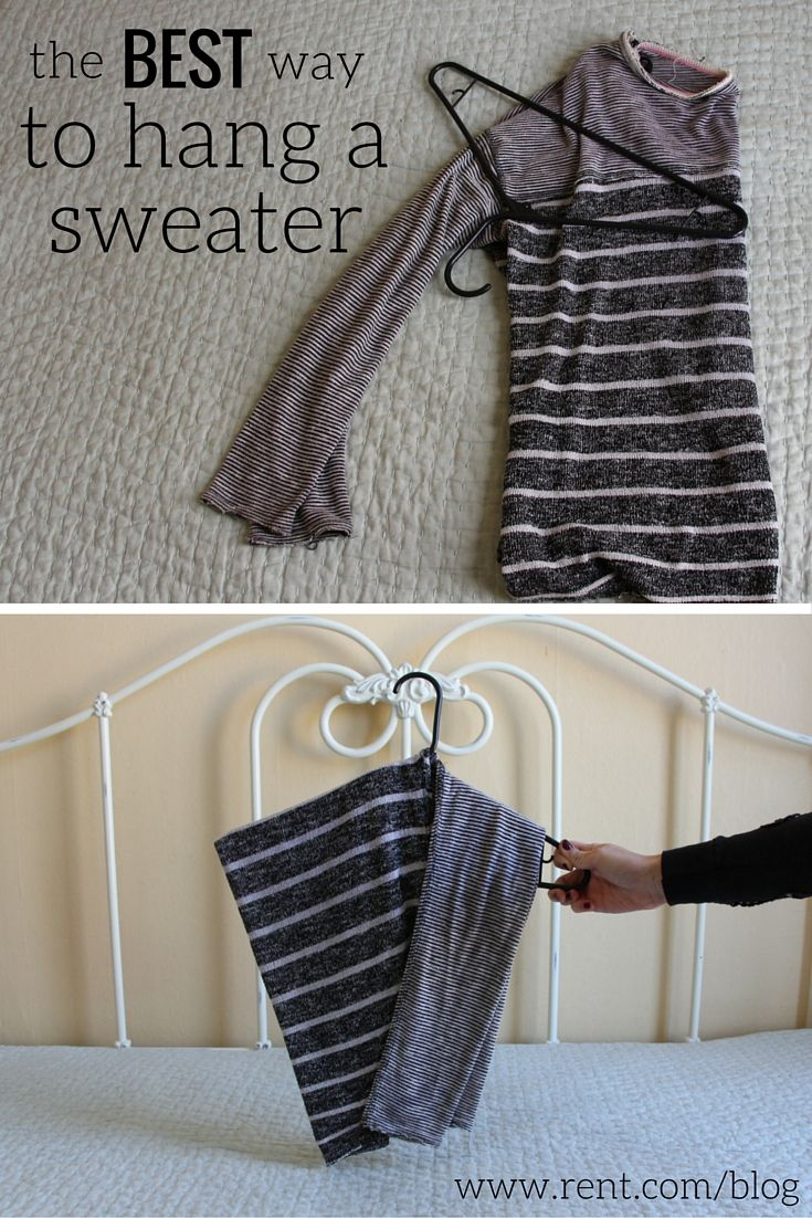 This hack will keep your sweaters from stretching out for no extra cost. Here's a step-by-step guide to learn the best way to hang your sweaters!