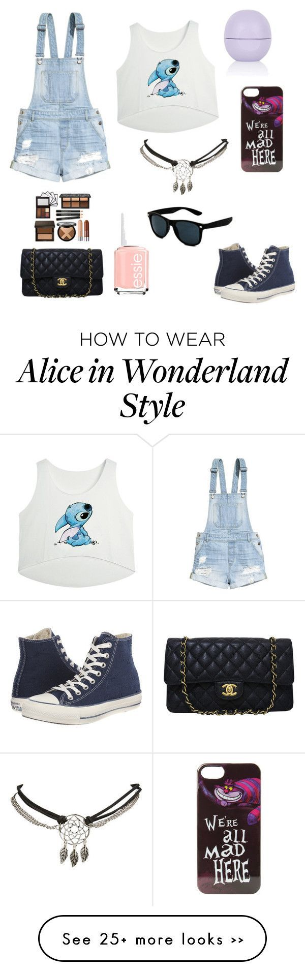 """The day at Disney"" by vcndancebattle on Polyvore featuring H&M, Converse, Disney, Wet Seal, Chanel, Topshop and Essie"