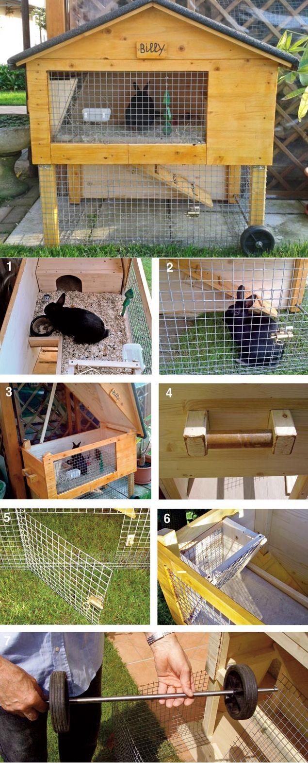 casetta per conigli #faidate   rabbits house #diy #pets #animals