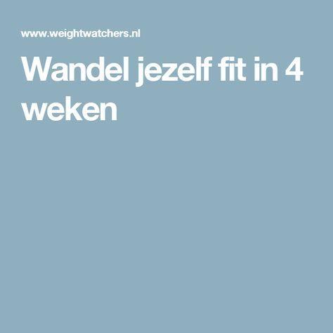 Wandel jezelf fit in 4 weken