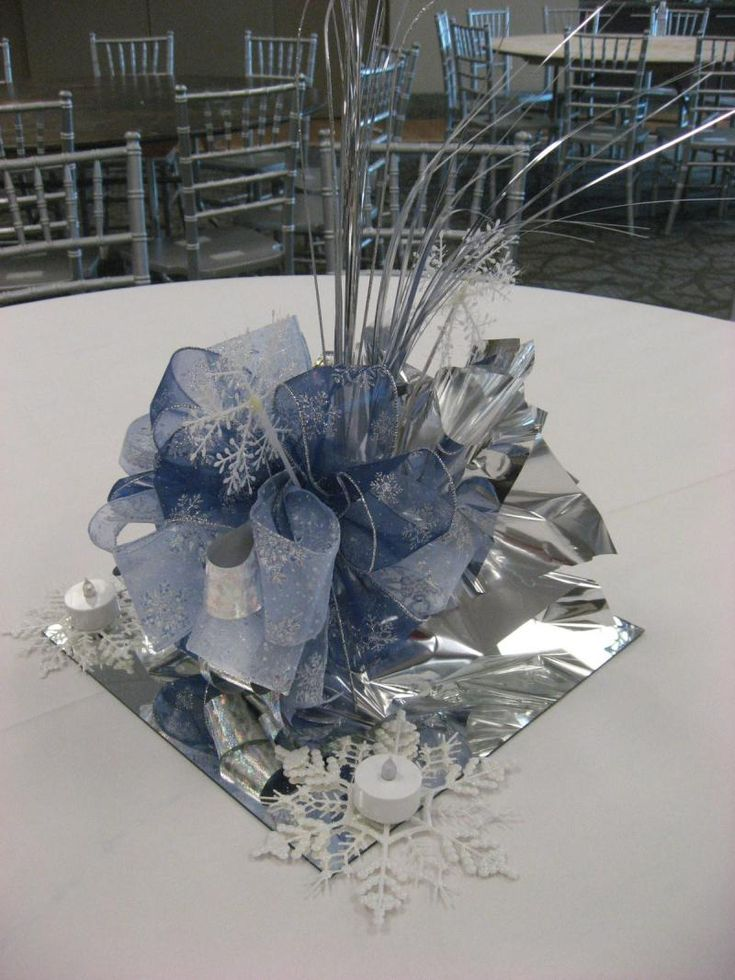 8 best winter themed party decor images on pinterest for Winter themed wedding centerpieces