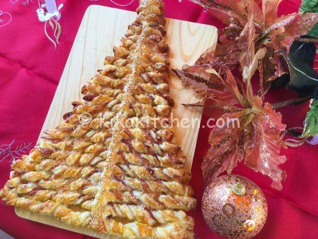 albero di natale di pasta sfoglia ricetta