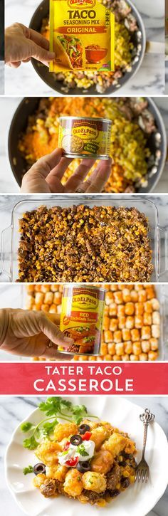 Combine the ultimate comfort food with the tacos you crave! This Tater Taco Casserole from @GirlWhoAte combines all the taco flavors you crave, with the comfort foot of a tater tot casserole. It's sure to be a hit with your hungry family!