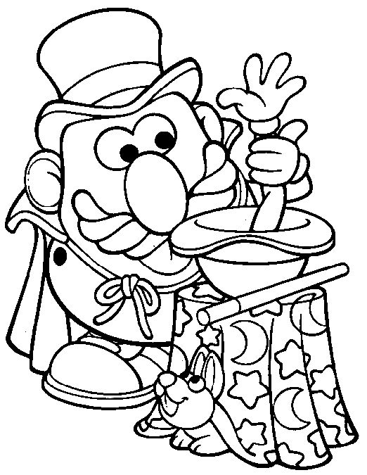 magician coloring pages sheet to print