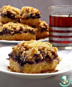 Песочный пирог с ягодами и карамелью - кулинарный рецепт