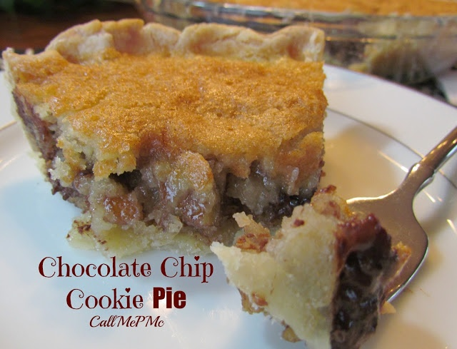 Chocolate Chip Cookie Pie is totally awesome! Great chocolate chip ...