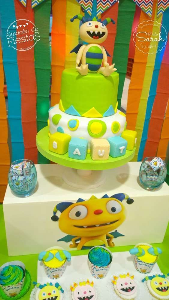 Henry Hugglemonster birthday party cake! See more party planning ideas at CatchMyParty.com!