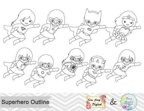 20++ Superhero clipart outline information