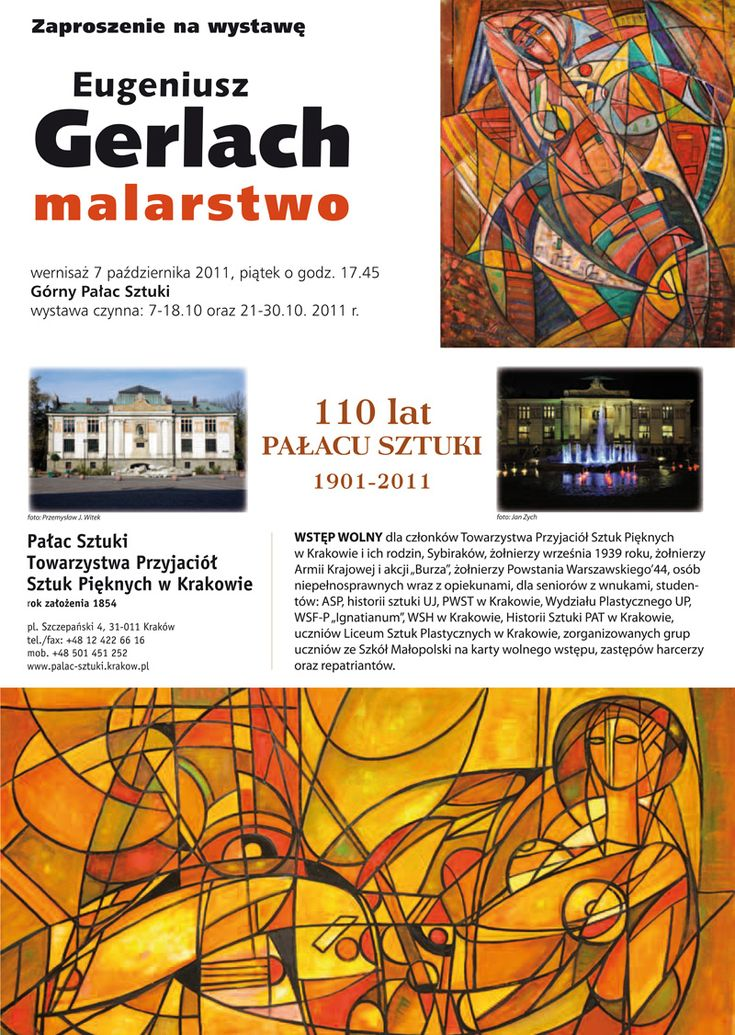 Wystawa Eugeniusz Gerlach Malarstwo - Pałac Sztuki Kraków 2011