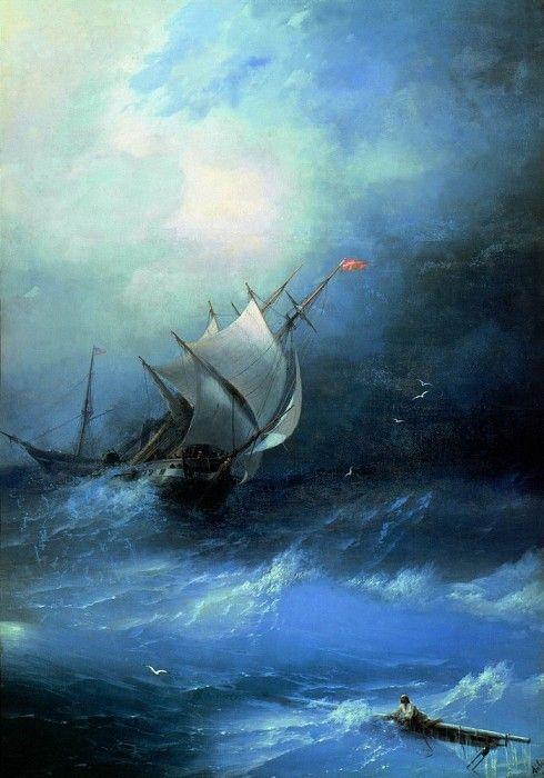 Буря на Ледовитом океане 1864 208х148. Иван Константинович Айвазовский