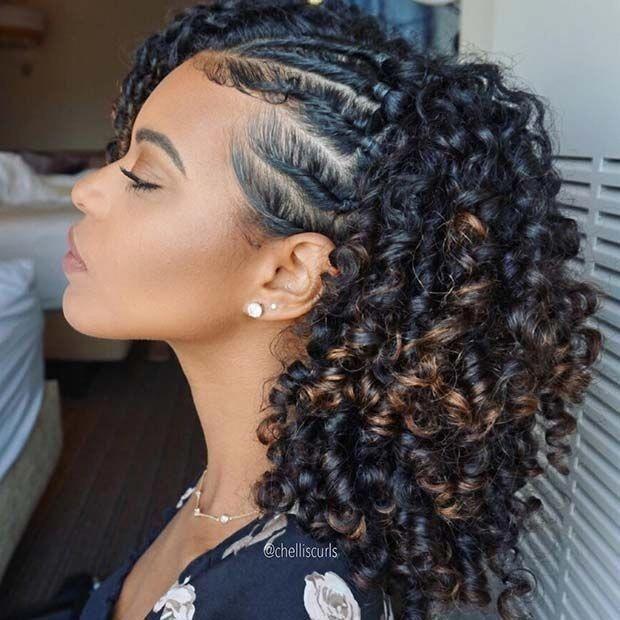 04 COISAS QUE VOCÊ FAZ ERRADO E NÃO SABE - CABELOS CACHEADOS E CRESPOS   Trança em cabelo cacheado, Penteados, Penteado cabelo curto