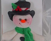 *POLYMER CLAY ~ Christmas Pin Brooch  Snowman Top Hat Boots