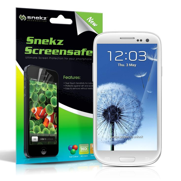 Snekz Screensafe Screen Protector for Samsung Galaxy S3 (Pack of 2) #screensafe #screenprotector