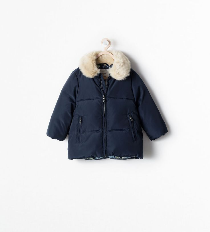 ZARA - SALE - DOWN JACKET WITH REMOVABLE COLLAR