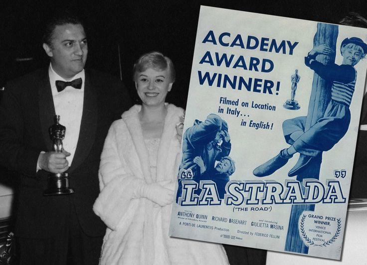 With Giulietta Masina, Academy Award for best foreign language film. This movie was released today, 59 years ago.