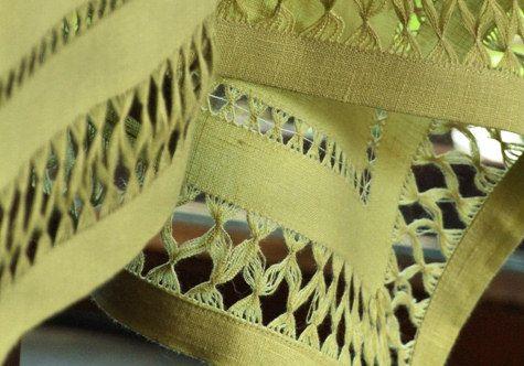Queen Linen Tablecloth, hemstitching: Hand Embroidery, Linen Tablecloth, Natasha S Inspirations