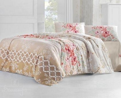 Купить постельное белье RANFORCE ASEL бежевое 50х70 евро от производителя Altinbasak (Турция)