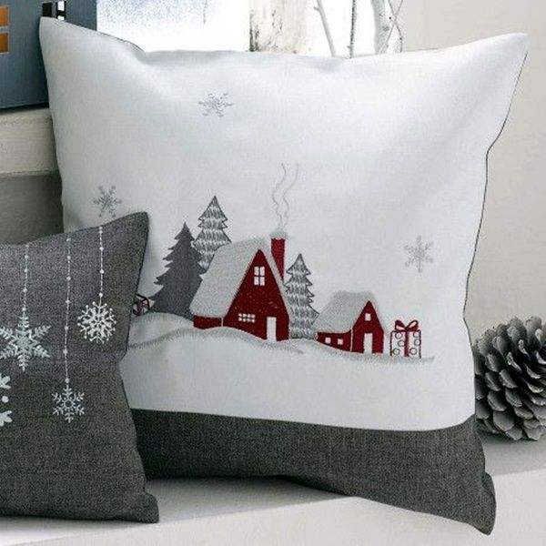 40 Excellent Applique Embroidery Designs And Patterns Christmas Pillow Christmas Applique Christmas Cushions