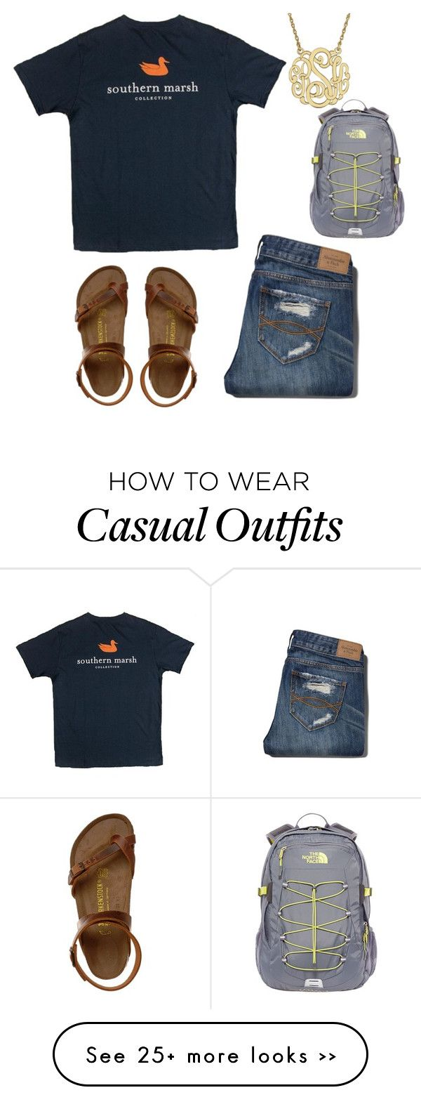 """OOTD casual."" by sadiepatton on Polyvore featuring Abercrombie & Fitch…"