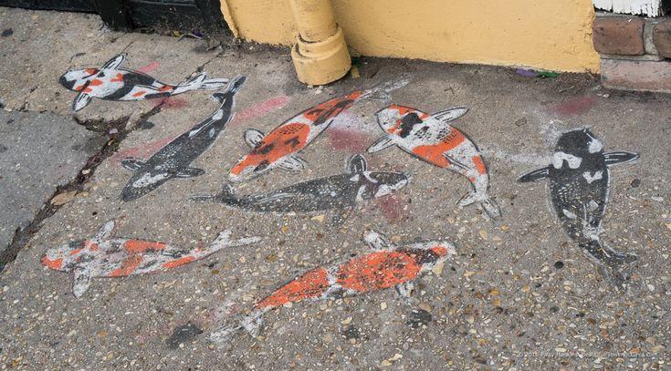 Koi Street Art, French Quarter, New Orleans © 2018 Patty Hankins