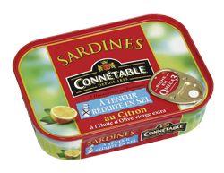 Connétable sardines sans sel ajouté