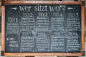 Tischordnung und Deko für die Hochzeit - Hochzeitsbuch.net
