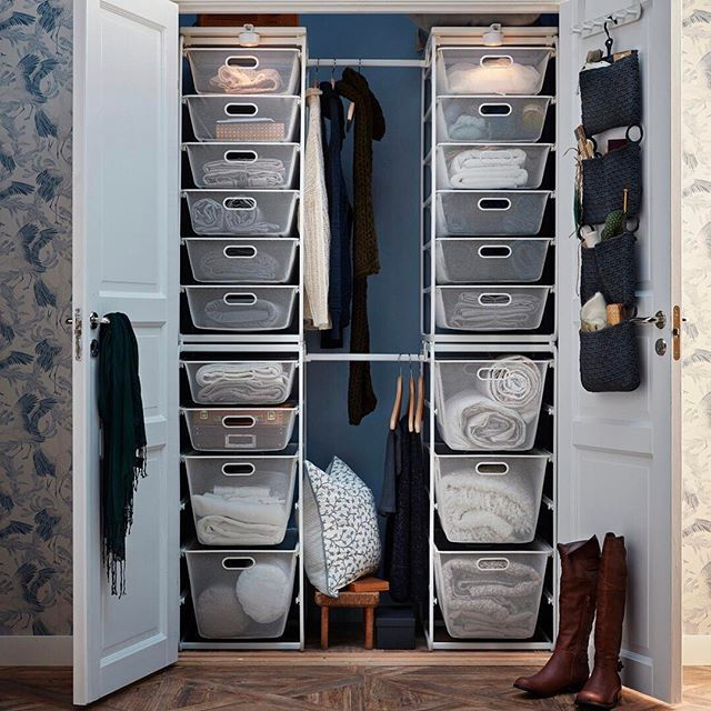 Customizable wire storage can organize what's behind closed doors - like the #IKEA ALGOT series. Shop the link in our bio!