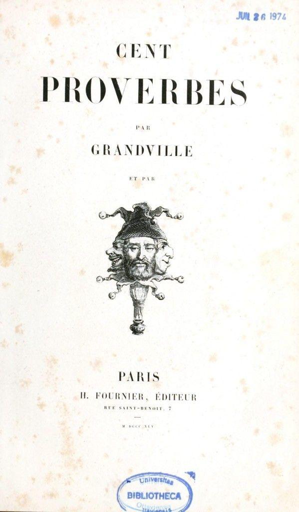 Grandville - Cent Proverbs